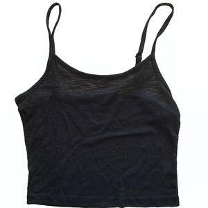 Black pacSun cropped tank top